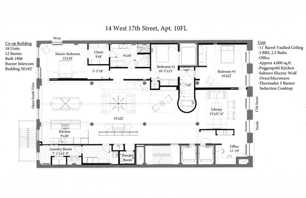 Unit 10FL at 14 West 17th Street, New York, NY 10011