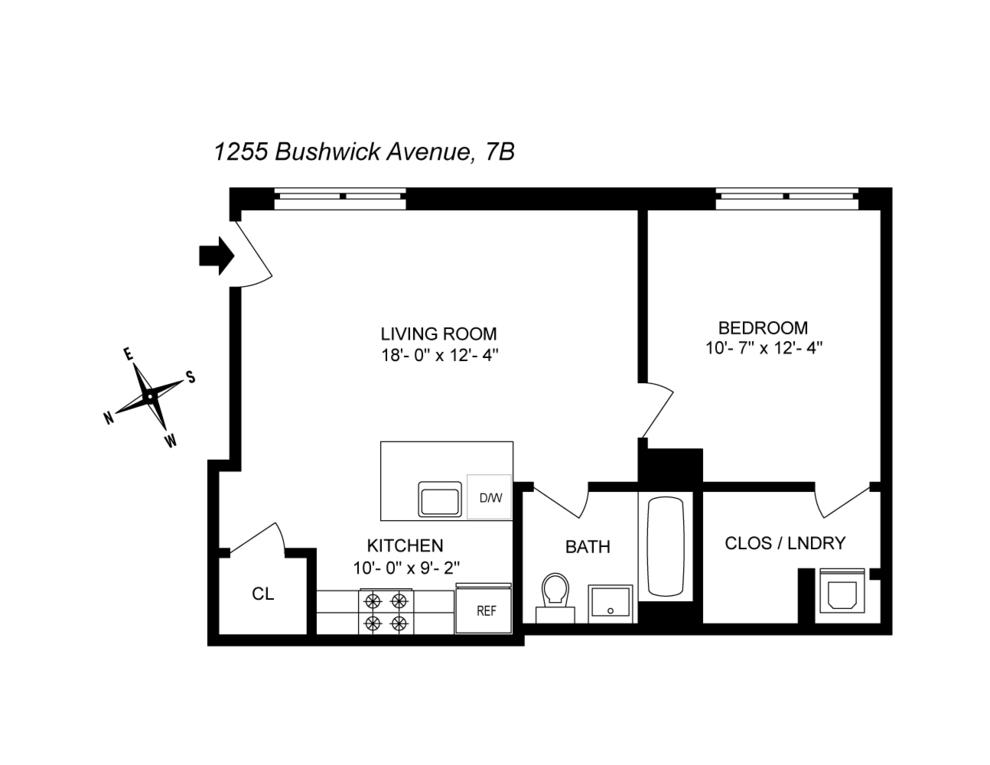 Unit 7B at 1255 Bushwick Avenue, Brooklyn, NY 11207
