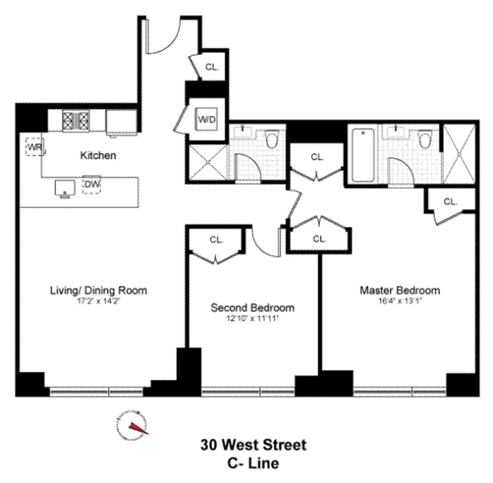 30 West Street, New York, NY 10004: Sales, Floorplans, Property ...