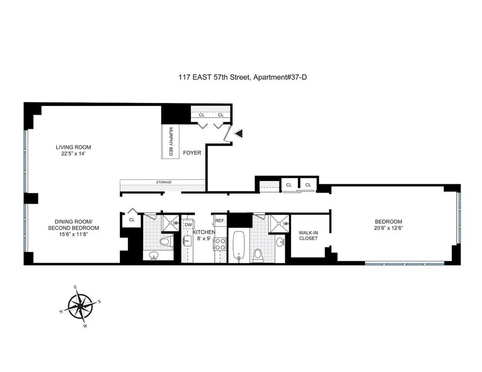 Unit 37D at 117 East 57th Street, New York, NY 10022