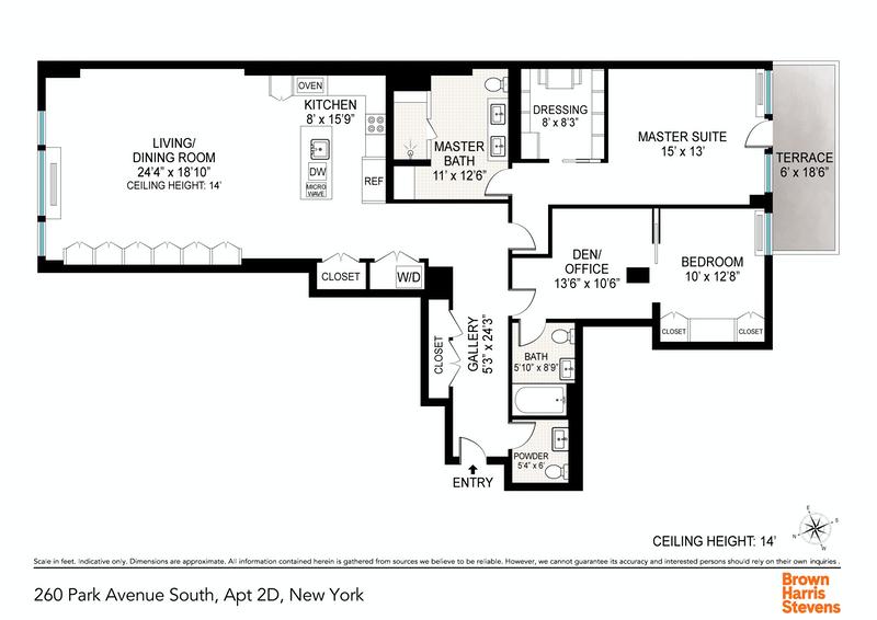 Unit 2D at 260 Park Avenue South, New York, NY 10010