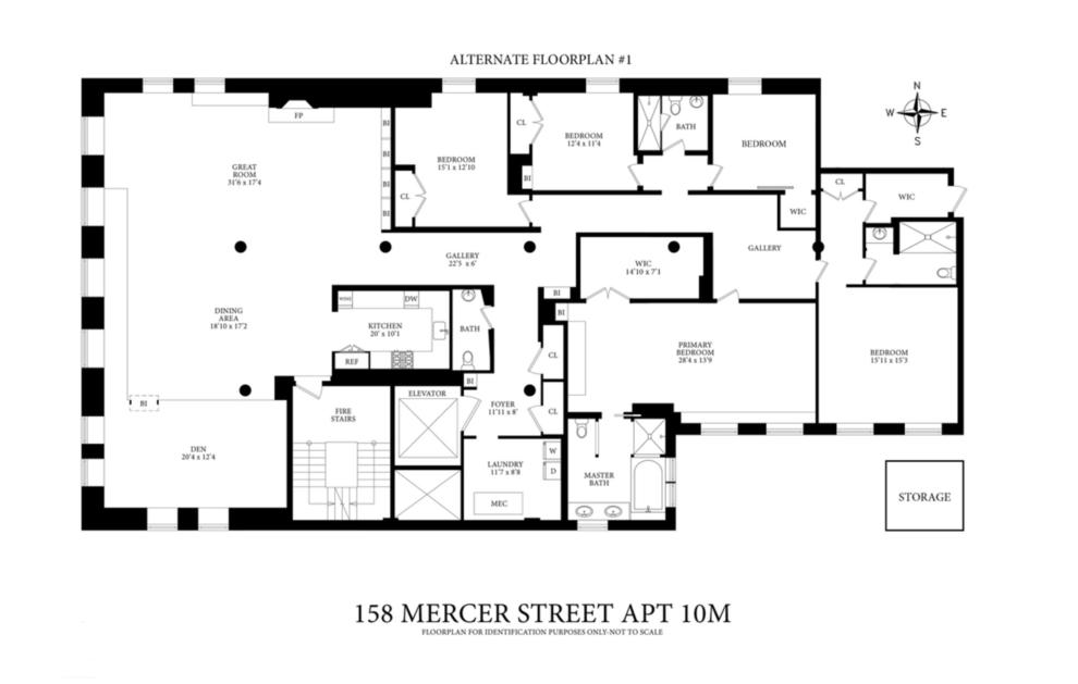 Unit 10FL at 158 Mercer Street, New York, NY 10012