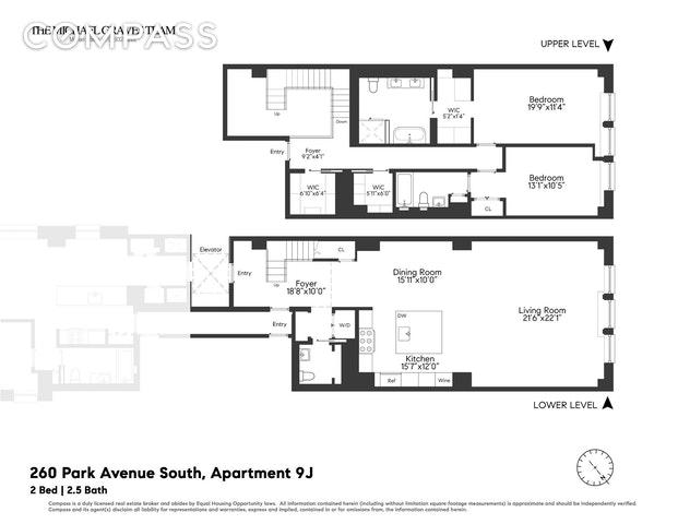 Unit 9J at 260 Park Avenue South, New York, NY 10010