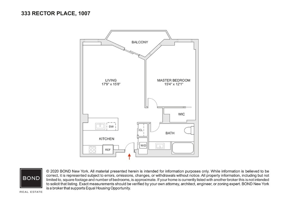 Unit 1007 at 333 Rector Place, New York, NY 10280