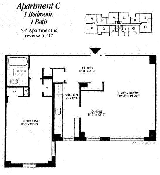 Unit 8C at 175 Willoughby Street, Brooklyn, NY 11201