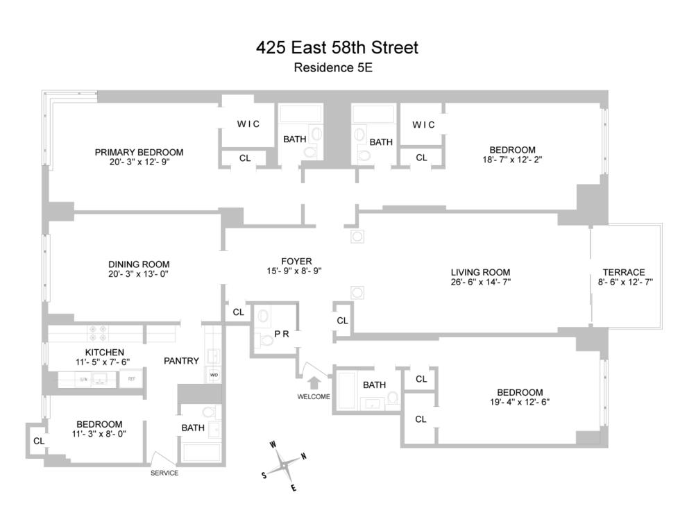 Unit 5E at 425 East 58th Street, New York, NY 10022