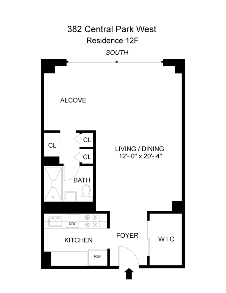 Unit 12F at 382 Central Park West, New York, NY 10025
