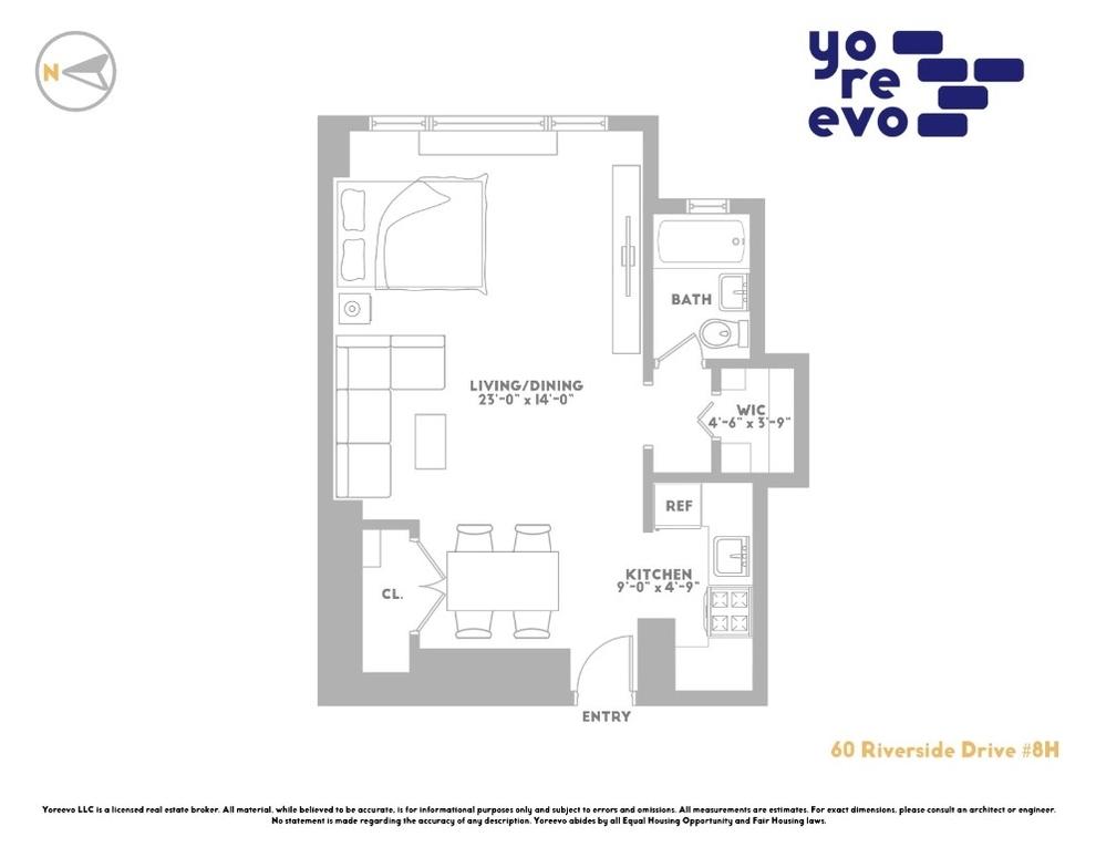 Unit 8H at 60 Riverside Drive, New York, NY 10024