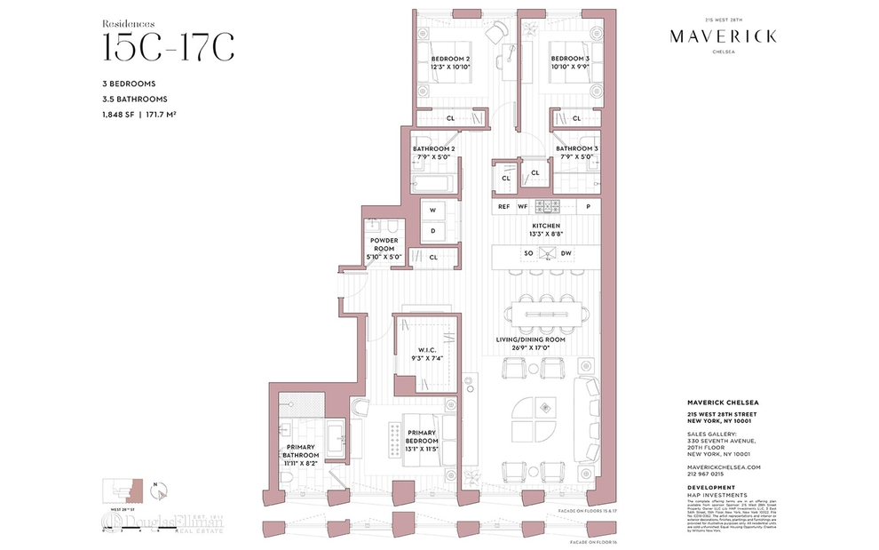 Unit 16C at 215 West 28th Street, New York, NY 10001