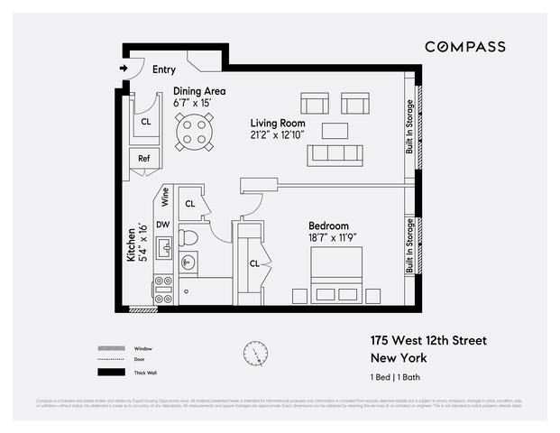 Unit 8H at 175 West 12th Street, New York, NY 10011