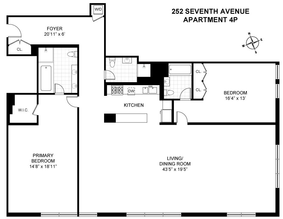 Unit 4P at 252 7th Avenue, New York, NY 10001