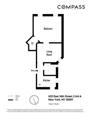 Unit 4 at 632 East 14th Street, New York, NY 10009