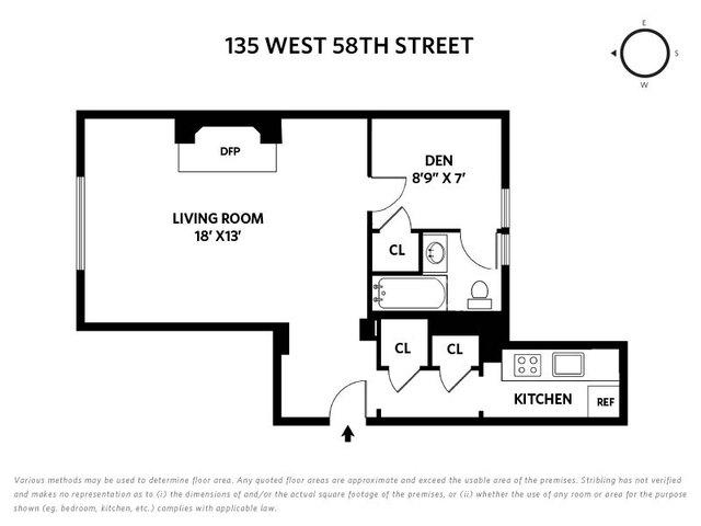 Unit 8D at 135 West 58th Street, New York, NY 10019