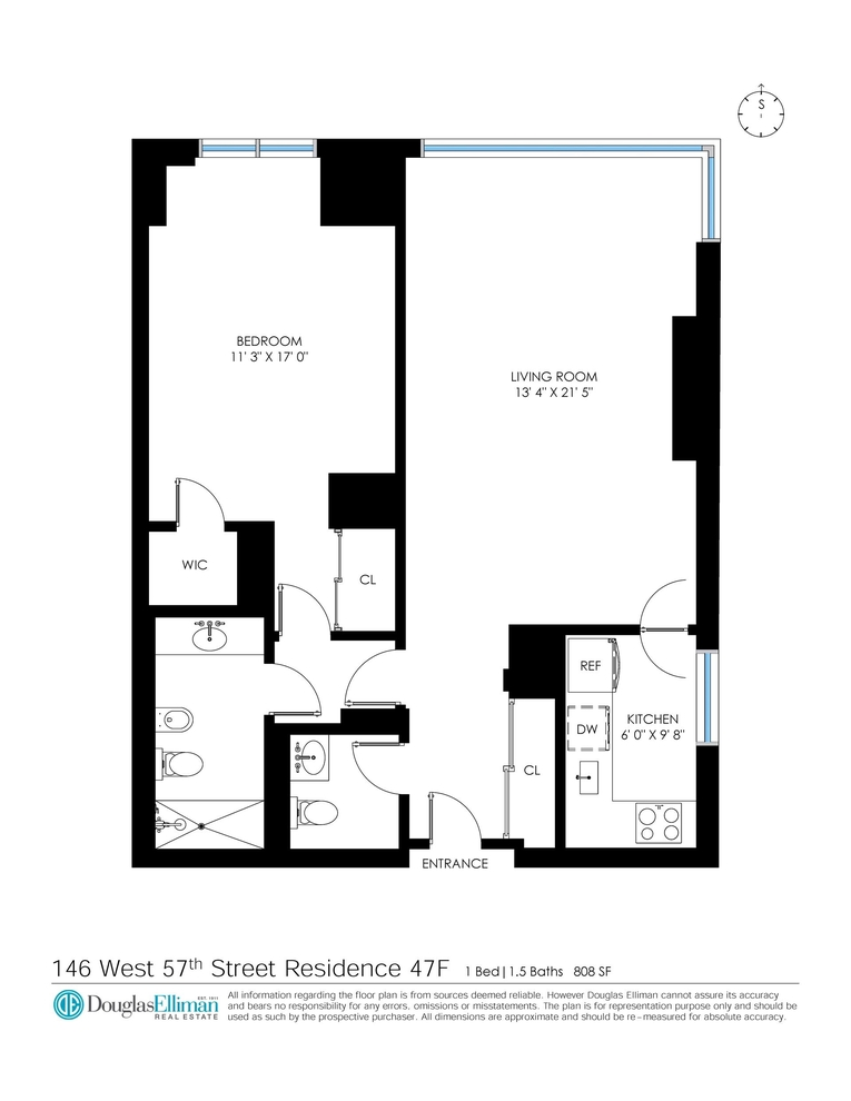 Unit 47F at 146 West 57th Street, New York, NY 10019