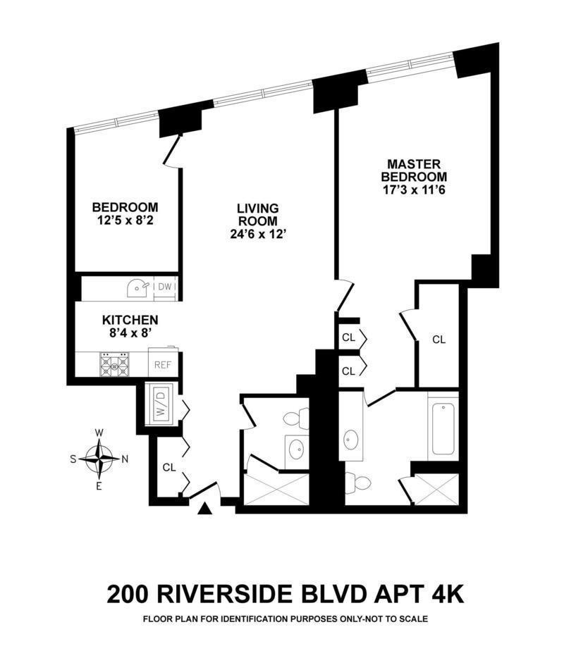 Unit 4K at 200 Riverside Boulevard, New York, NY 10069