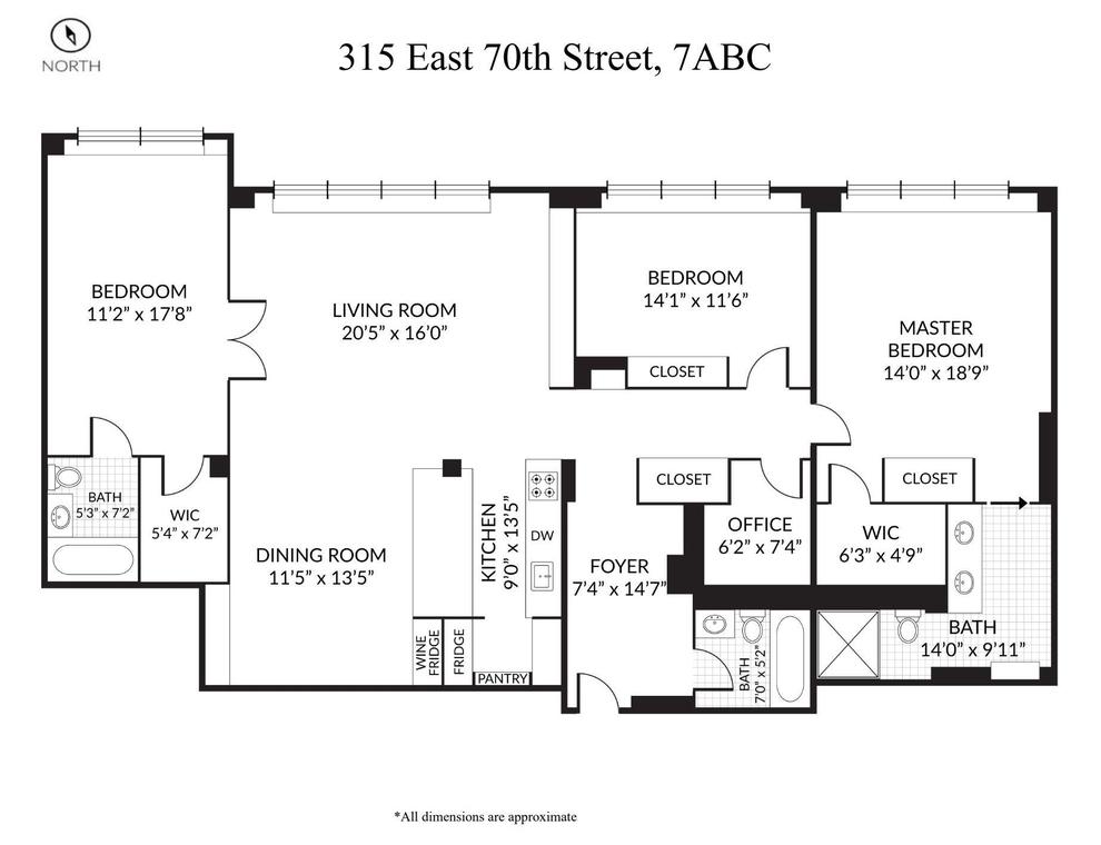Unit 7ABC at 315 East 70th Street, New York, NY 10021