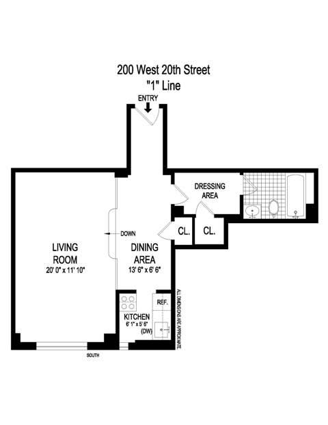 Unit 1401 at 200 West 20th Street, New York, NY 10011