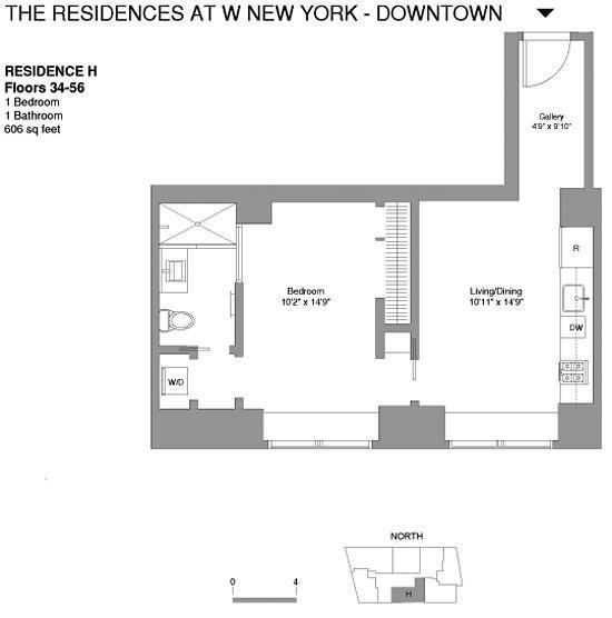 Unit 48H at 123 Washington Street, New York, NY 10006