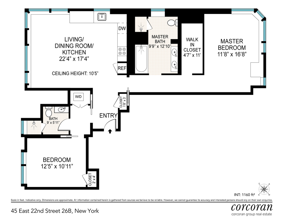 Unit 26B at 45 East 22nd Street, New York, NY 10010