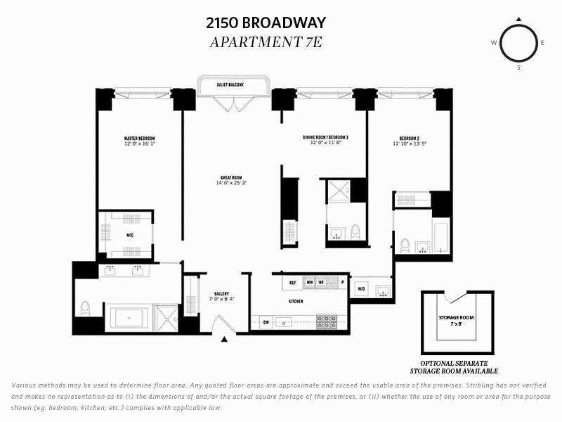 Unit 7E at 2150 Broadway, New York, NY 10023
