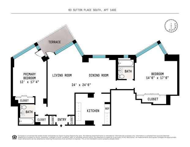 Unit 14GS at 60 Sutton Place South, New York, NY 10022