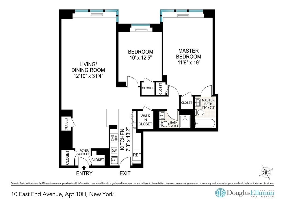 Unit 10H at 10 East End Avenue, New York, NY 10075