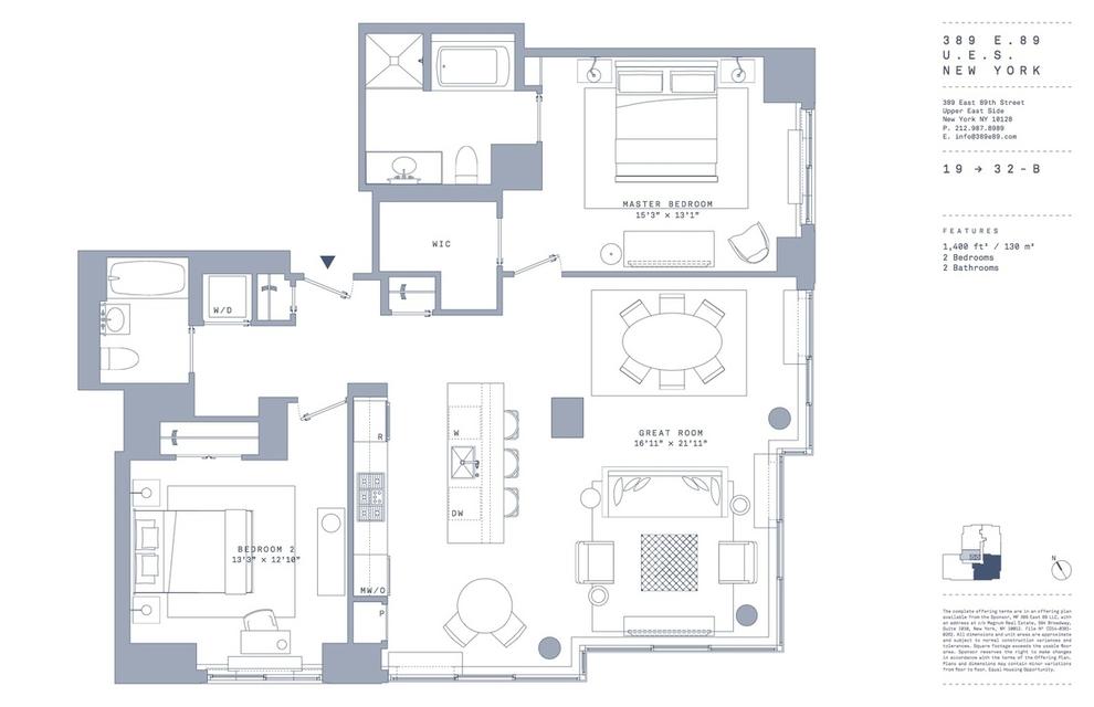 Unit 21B at 389 East 89th Street, New York, NY 10128