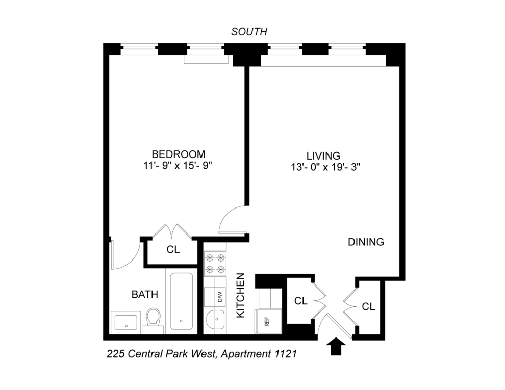 Unit 1121 at 225 Central Park West, New York, NY 10024