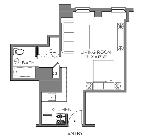 Unit 8Q at 111 Hicks Street, Brooklyn, NY 11201