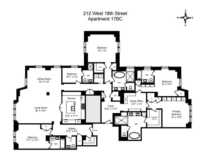 Unit 17BC at 212 West 18th Street, New York, NY 10011