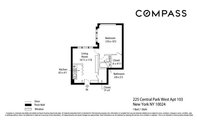 Unit 103 at 225 Central Park West, New York, NY 10024