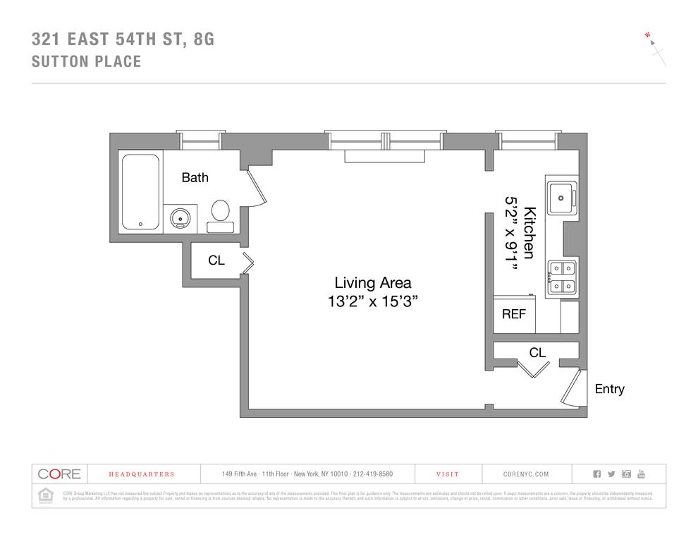 Unit 8G at 321 East 54th Street, New York, NY 10022