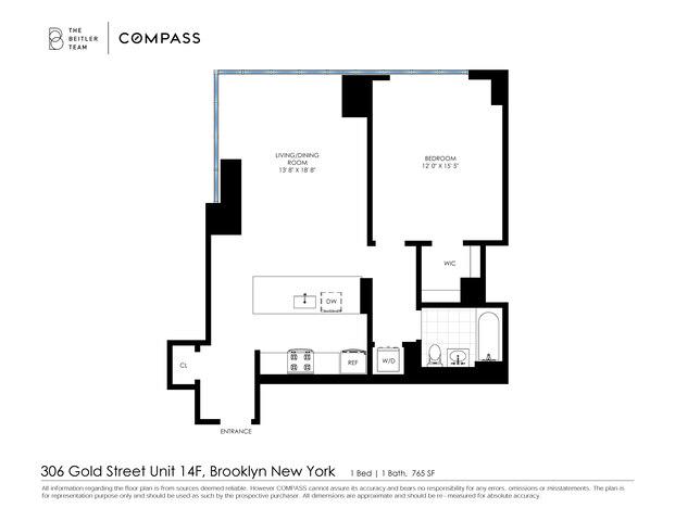 Unit 14F at 306 Gold Street, Brooklyn, NY 11201