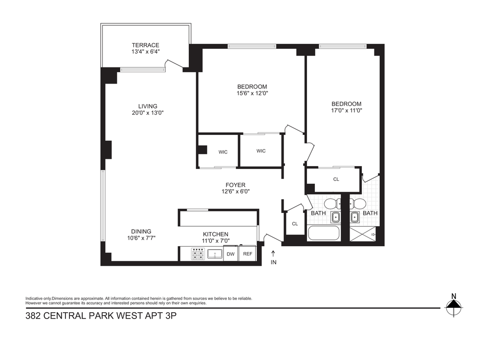 Unit 3P at 382 Central Park West, New York, NY 10025