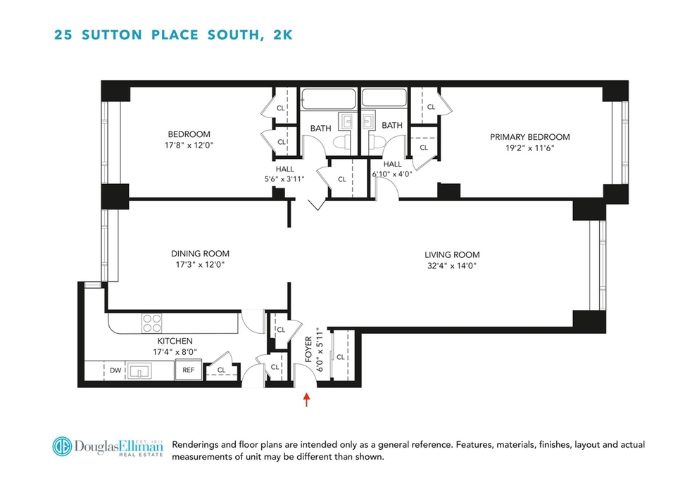 Unit 2K at 25 Sutton Place South, New York, NY 10022