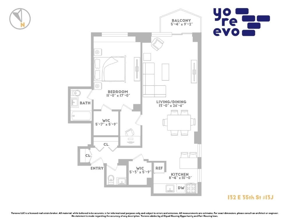 Unit 13J at 132 East 35th Street, New York, NY 10016