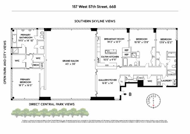 Unit 66B at 157 West 57th Street, New York, NY 10019