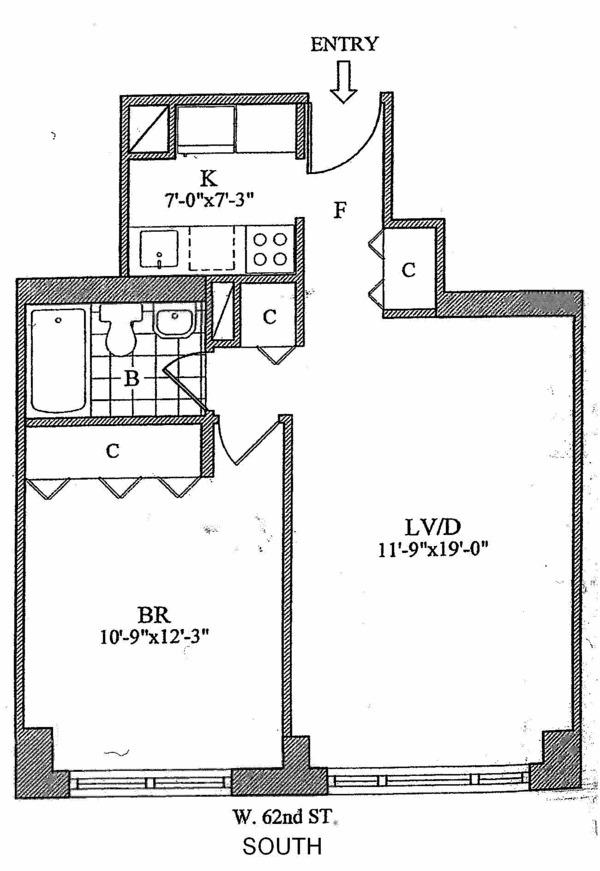 Unit 8F at 30 West 63rd Street, New York, NY 10023