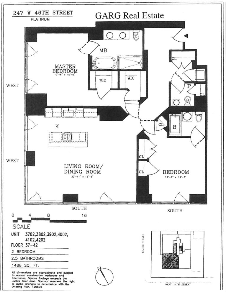 Unit 4202 at 247 West 46th Street, New York, NY 10036