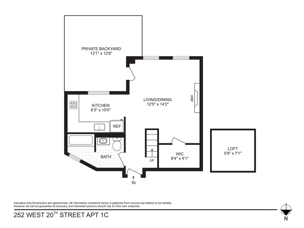 Unit 1C at 252 West 20th Street, New York, NY 10011
