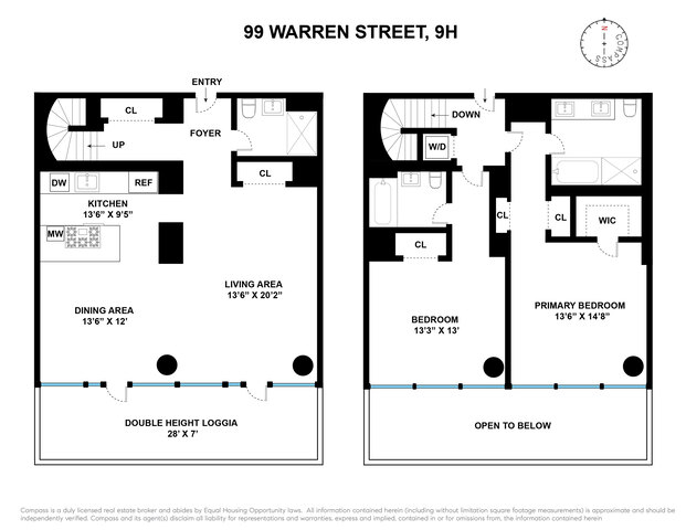 Unit 9H at 101 Warren Street, New York, NY 10007