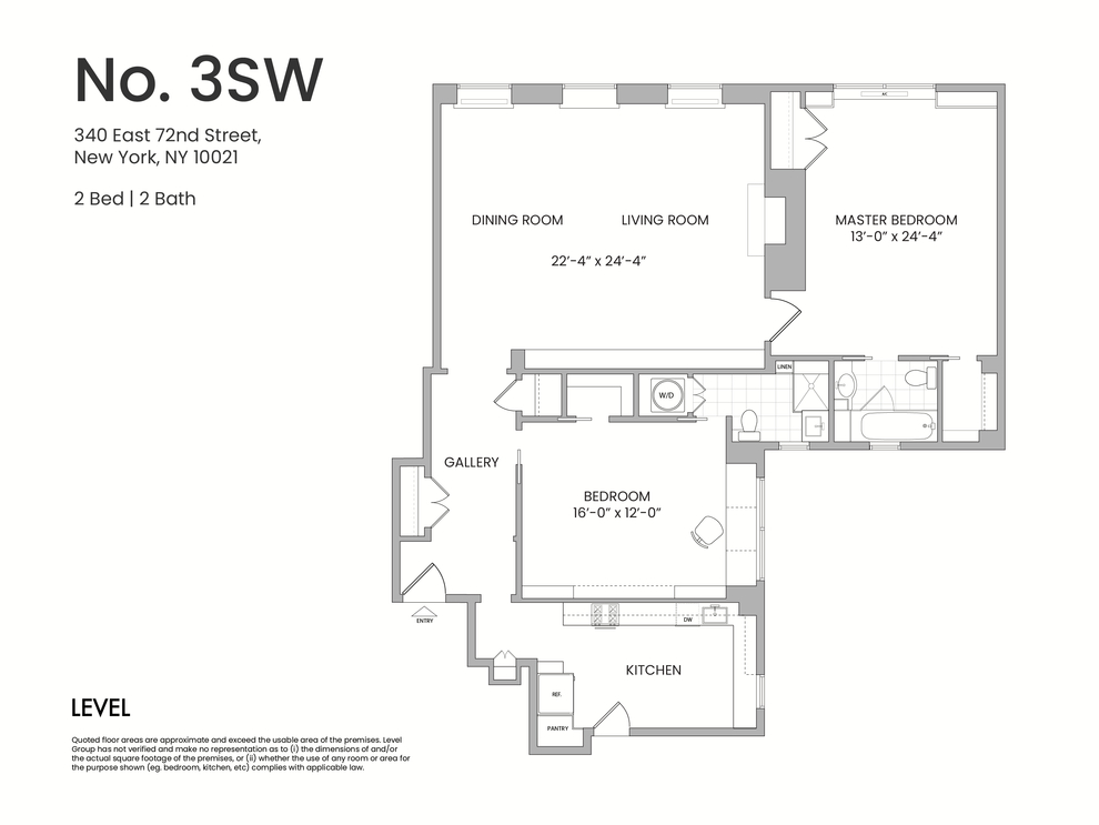 Unit 3SW at 340 East 72nd Street, New York, NY 10021