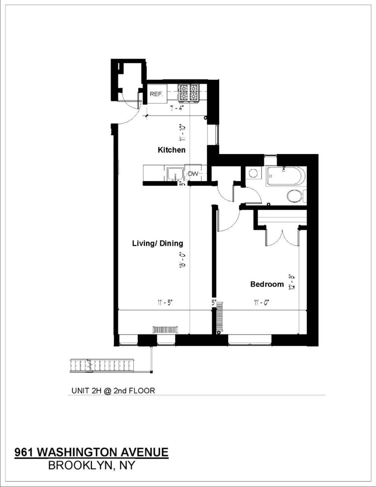 Unit 2H at 961 Washington Avenue, Brooklyn, NY 11225