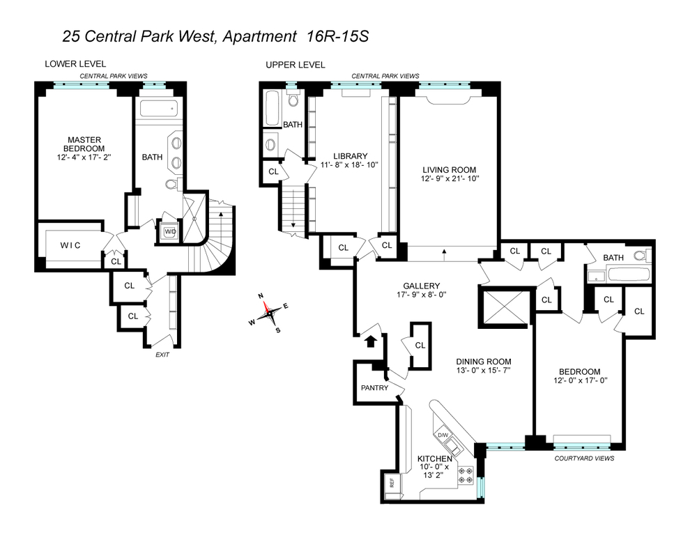 Unit 16R15S at 25 Central Park West, New York, NY 10023