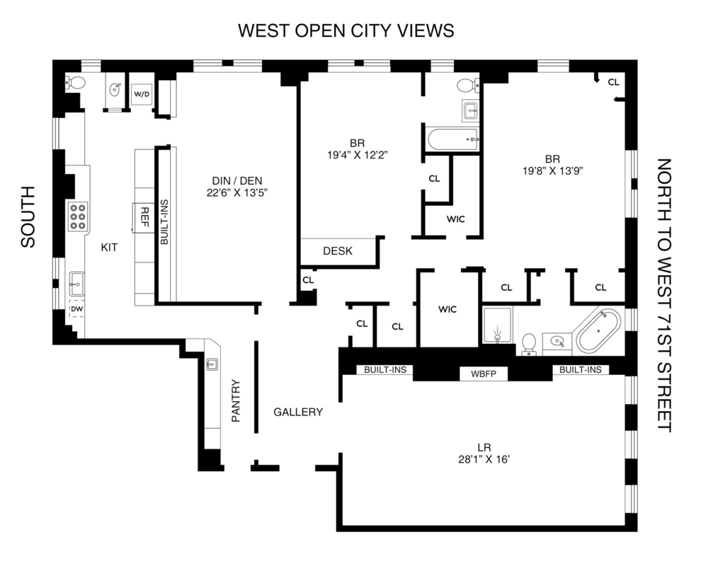 Unit 8G at 101 Central Park West, New York, NY 10023