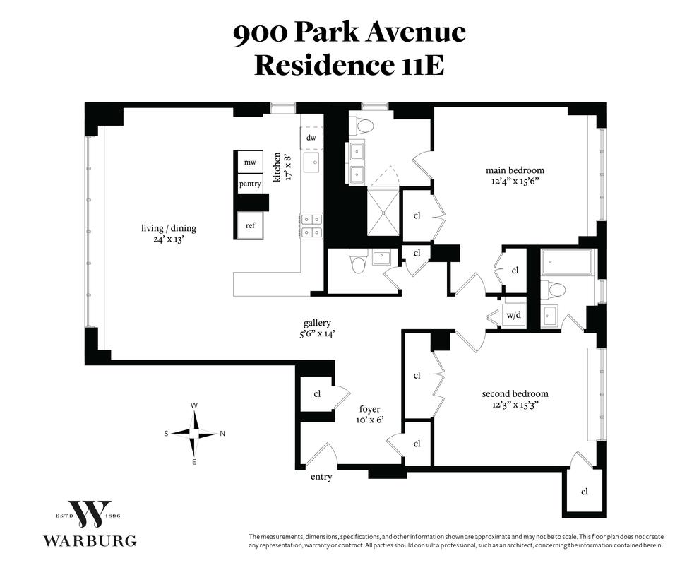 Unit 11E at 900 Park Avenue, New York, NY 10075