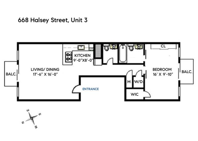 Unit 3 at 668 Halsey Street, Brooklyn, NY 11233