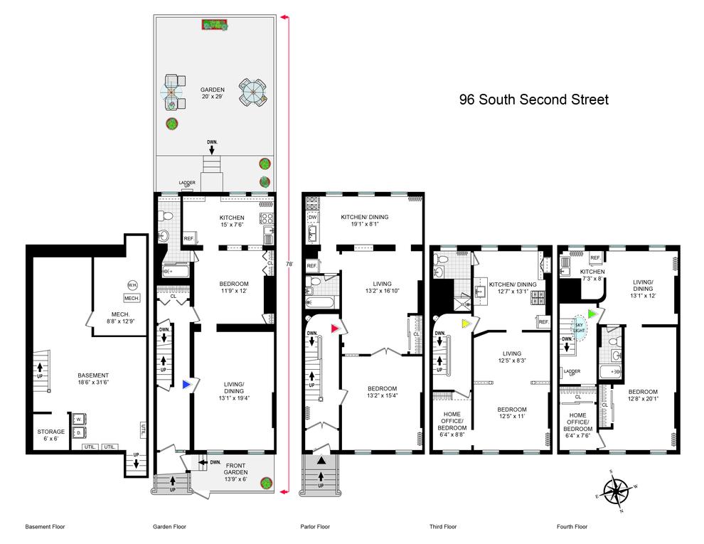 Unit  at 96 South 2nd Street, Brooklyn, NY 11249