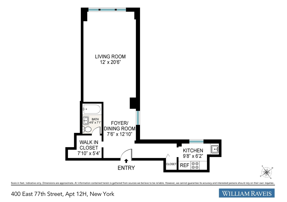Unit 12H at 400 East 77th Street, New York, NY 10021
