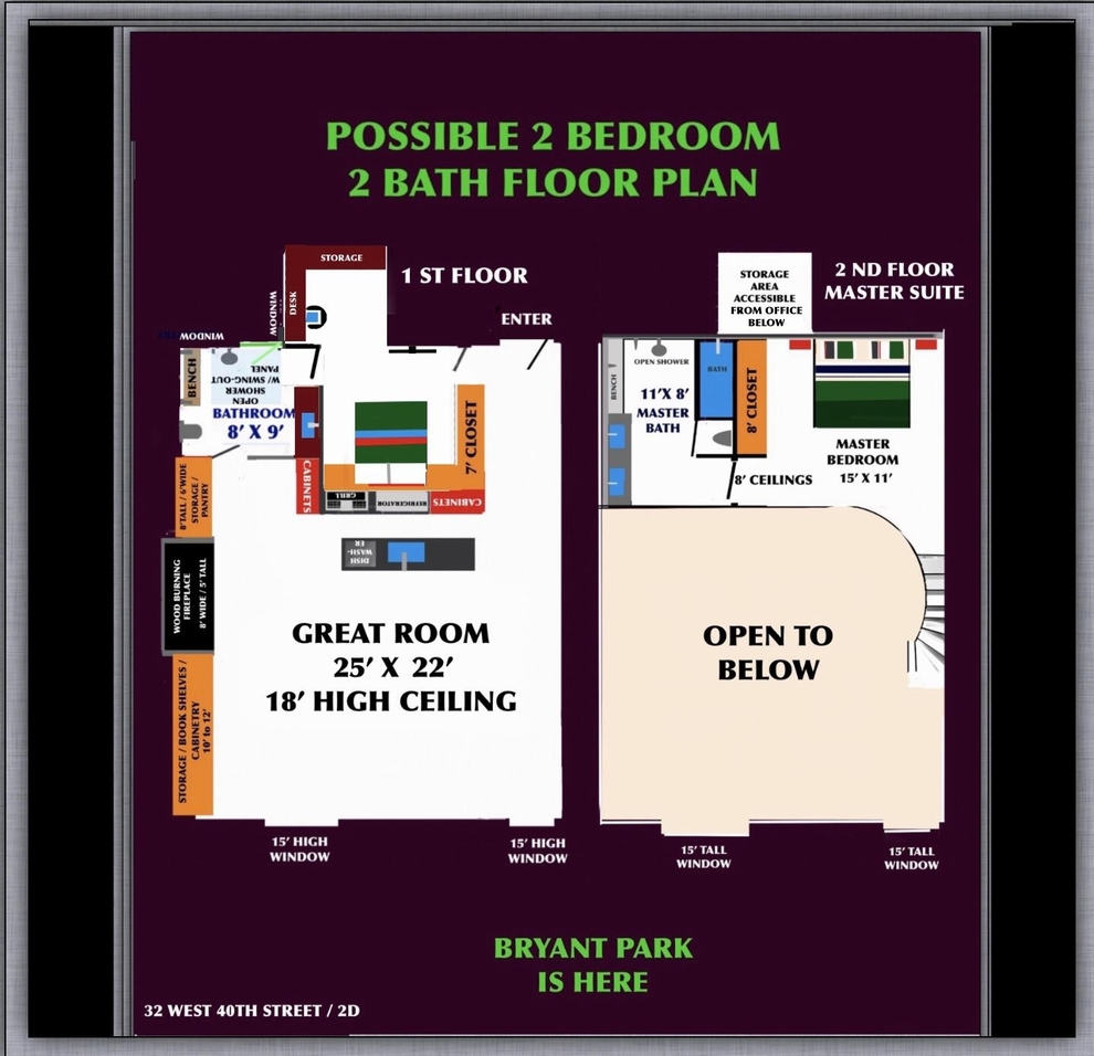 Unit 2D at 32 West 40th Street, New York, NY 10018